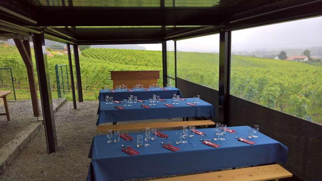 Location à la journée terrasse couverte dans les vignes - Waadt