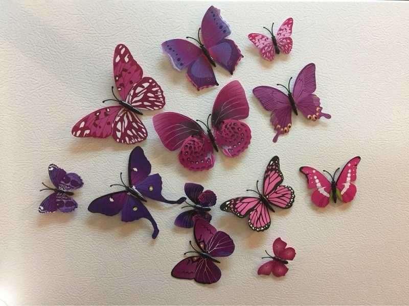 Schmetterling Butterfly Wandtattoo Sticker 3d Effekt Dekoration