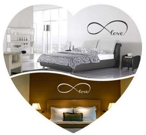 Stickers love chambre coucher wandtattoos for Stickers chambre love