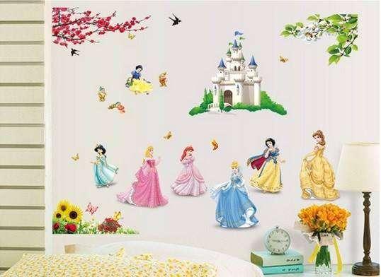 Stickers princesse pour chambre de fille - Wandtattoos
