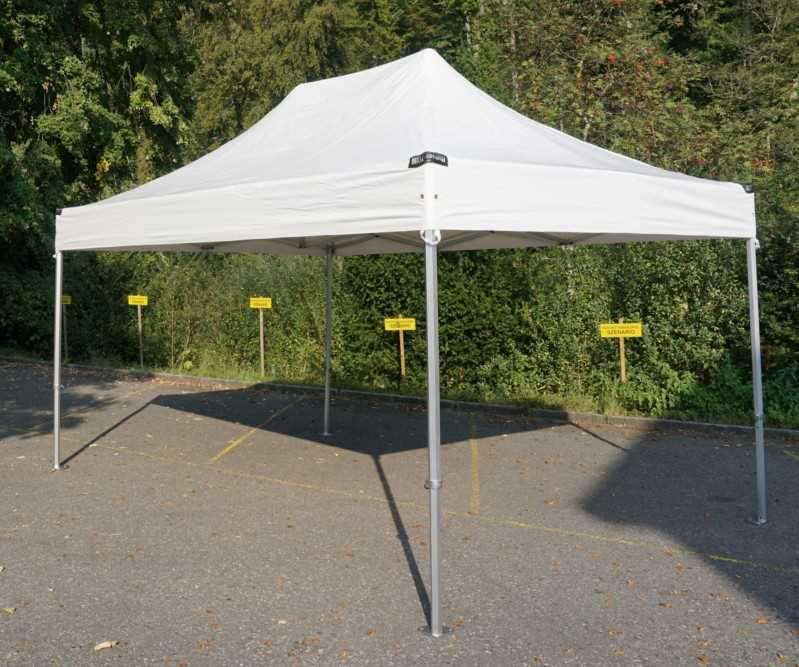 Caretent Faltzelt Alu Top 3x4 5m Pvc Marktstand Pavillon Zelte