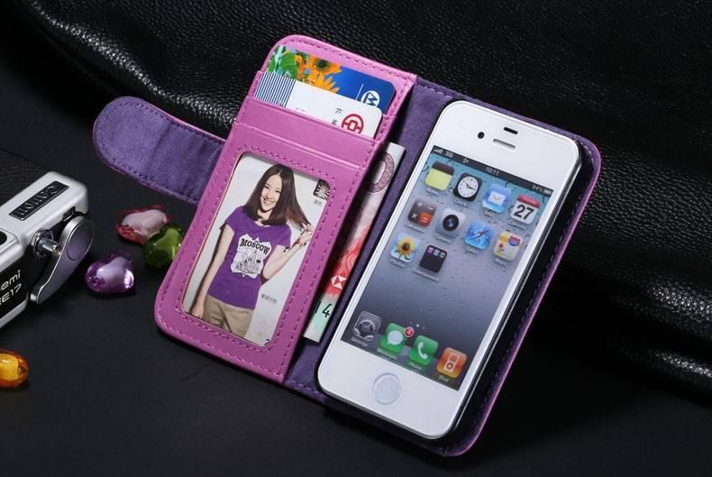 etui portefeuille en cuir pour iphone 5c iphone 5c. Black Bedroom Furniture Sets. Home Design Ideas